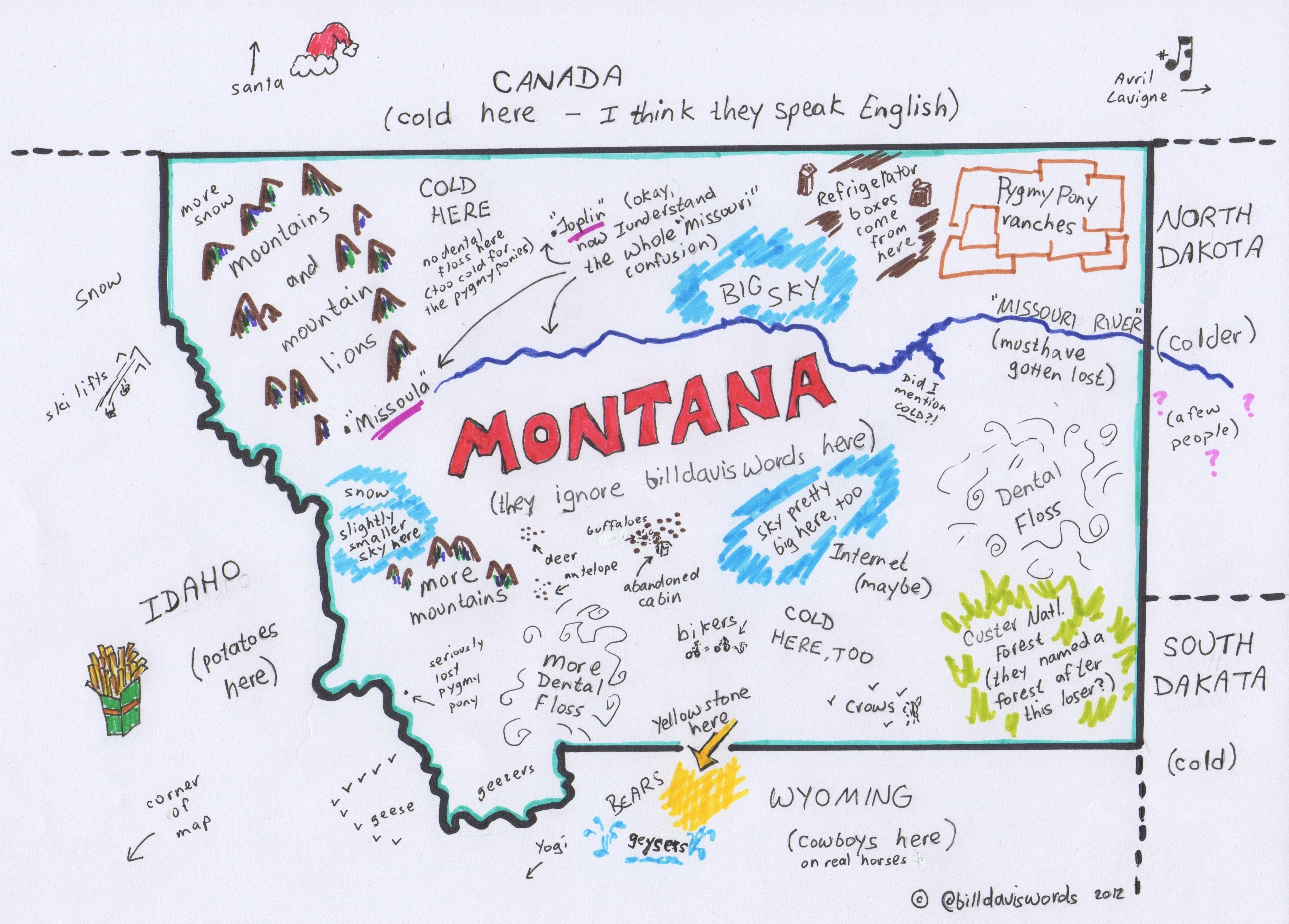 Montana They Ignore Bill Davis Words – Montana Travel Map